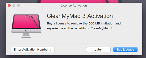 cleanmymac 3 license