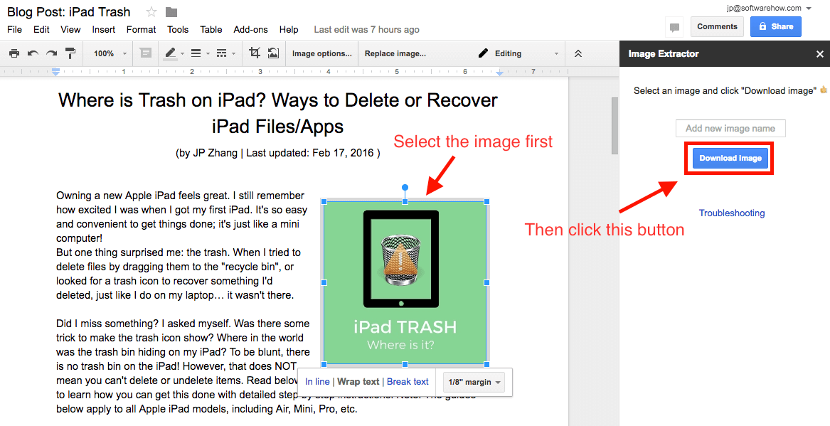 Quick Ways To Extract And Save Images From Google Docs - Google docs save