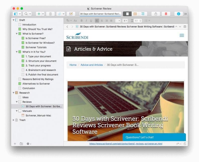 Scrivener-Word14