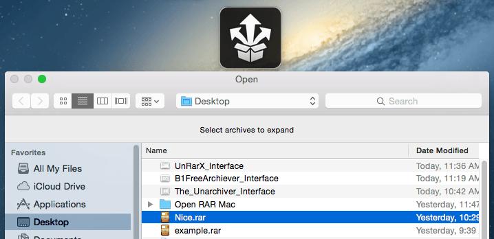 StuffIt Expander Mac Interface