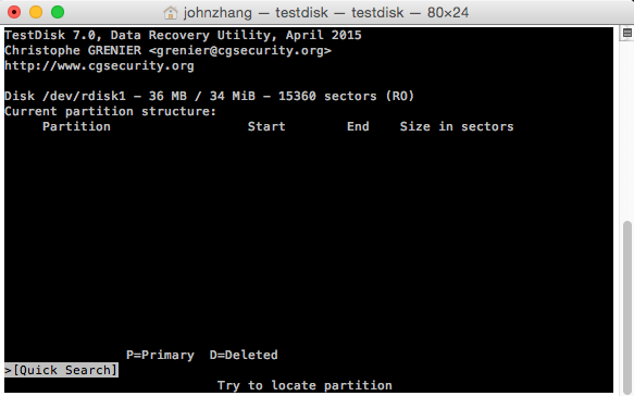 TestDisk partition recovery