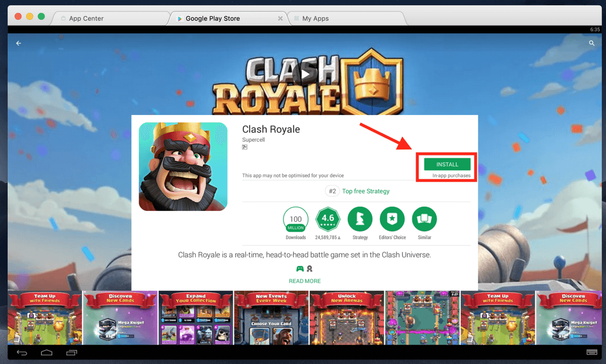Play clash royale without download