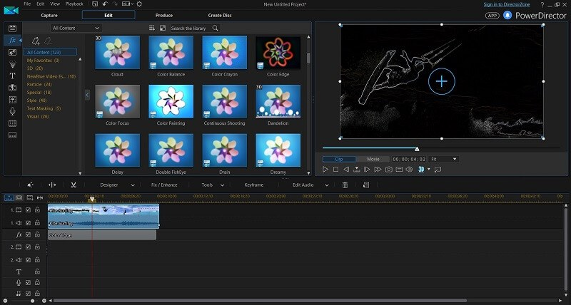 Cyberlink powerdirector review is this video editor any good here ive applied the color edge effect to a portion of my video by dragging it into the fx portion of the timeline below my clip maxwellsz