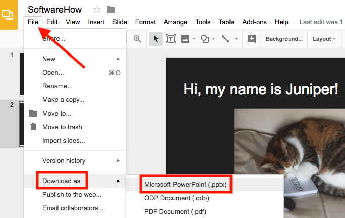 how to extract an image in google slides and save it to desktop