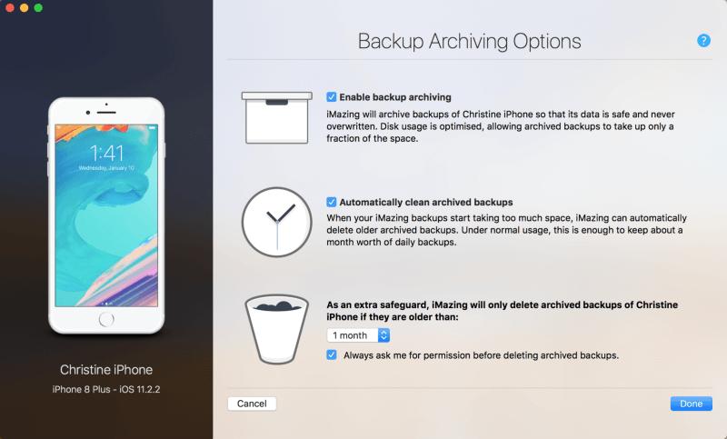 Imazing app backup