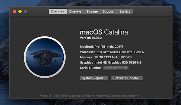 macos catalina overview