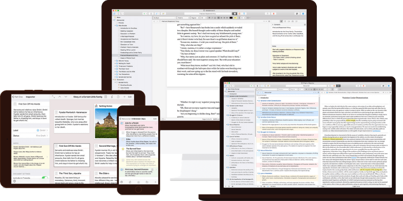 scrivener main interfaces