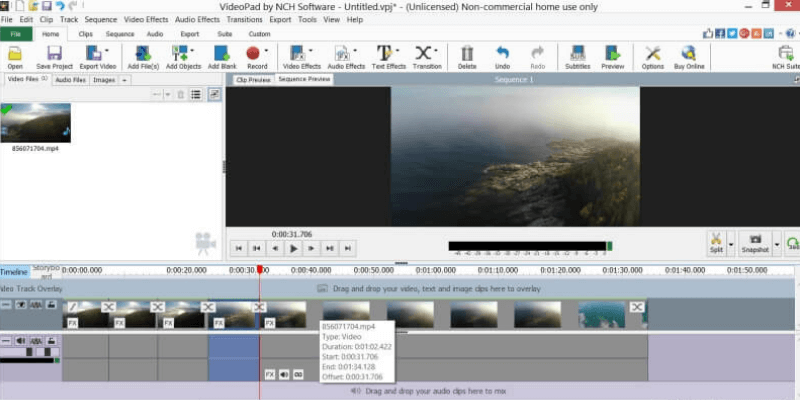 VideoPad is a free Mac video editing application. Easily create and edit high  quality videos whether you are combining several short video clips or working  with ...