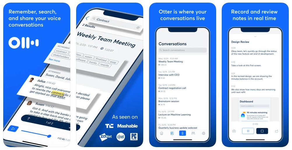 Productivity app 4 Otter Voice Notes